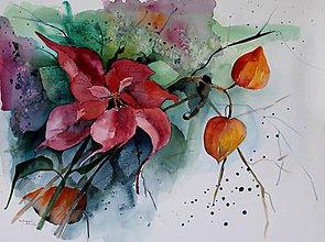 Obrazy - Jesenno-zimný motív - 7469453_