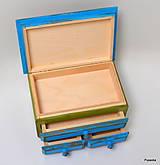 Krabičky - Šperkovnica páv - 7469532_