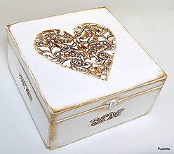 Krabičky - Veľká krabica aj svadobná - 7469590_