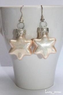 Náušnice - Zimne hviezdičky perleťové :) - 7472263_