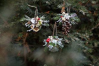 """Dekorácie - Set troch vianočných odzôbok """"zasnežený park"""" - 7468760_"""
