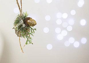 """Dekorácie - Set šiestich vianočných odôbok """"ligot pozlátka"""" - 7468785_"""