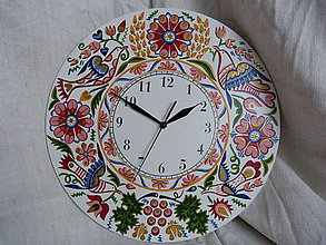 Hodiny - hodiny ružové 49 - 7468638_