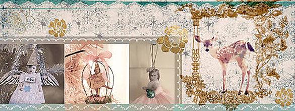 Kurzy - !! 5.,7., 12., 14.12. Vianočné ozdoby na stromček v štýle Vintage Mixmedia - 7473626_