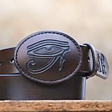 Opasky - Celokožený opasok s ručne vyrezávaným motívom  na mieru - 7468901_
