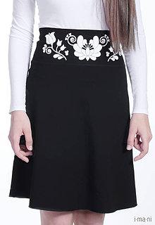 Sukne - Dámska sukňa A-strih KVETOVANÝ OPASOK - 7469774_