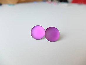 Náušnice - Meňavky - napichovačky fialové - 7474882_