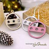 Dekorácie - Vianočná ozdoba - guľa 7 cm 1 ks (1050) - 7475730_