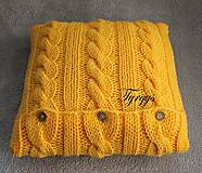 Úžitkový textil - Vankúšik žltý - 7477439_