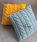Úžitkový textil - Vankúšik žltý - 7477440_