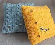 Úžitkový textil - Vankúšik žltý - 7477446_