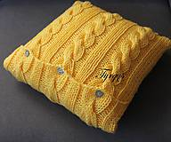 Úžitkový textil - Vankúšik žltý - 7477449_