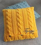 Úžitkový textil - Vankúšik žltý - 7477469_