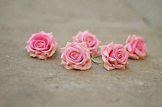 Ozdoby do vlasov - Ružové pusinky - 7475109_