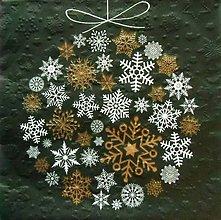 Papier - S900 - Servítky - guľa, vločka, vianoce, embosing - 7479186_