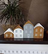 Dekorácie - Drevené dekoračné domčeky - 7474805_