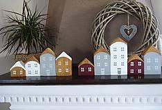 Dekorácie - Drevené dekoračné domčeky - 7474806_