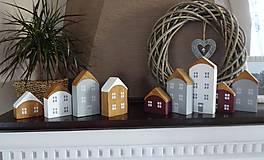 Dekorácie - Drevené dekoračné domčeky - 7474807_