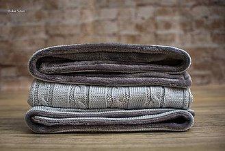 """Textil - Detská deka na zimu, ,,Vrkoč"""", OEKO-TEX® - Sivá - 7474513_"""