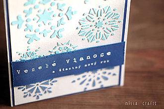 Papiernictvo - Vianočná pohľadnica - Veselé Vianoce a šťastný nový rok - 7475565_