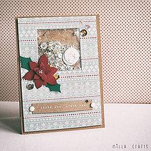 Papiernictvo - Vianočná pohľadnica - shaker card - 7476682_