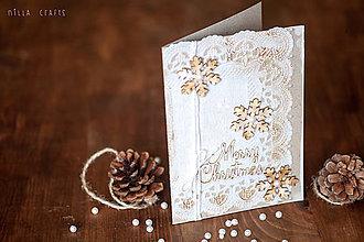 Papiernictvo - Vianočná pohľadnica - Vintage Merry Christmas - 7477032_