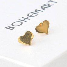 Náušnice - Pozlátené náušnice - Hearts - 7477655_