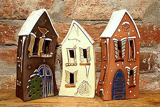 Dekorácie - Keramický domček \