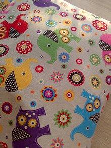Textil - Detský vankúšik*sloník* - 7477569_