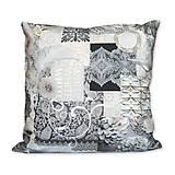 Úžitkový textil - Vankúš Sivá kráska - 7476571_