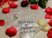 Darčeky pre svadobčanov - Svadobná vreckovka - 7479074_