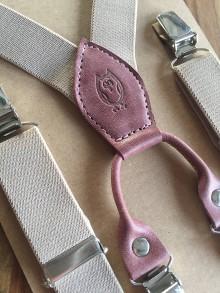 Iné doplnky - Dámske traky s rúžovou kožou - 7474601_
