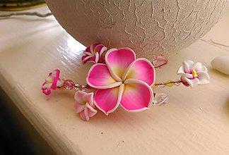 Ozdoby do vlasov - Kvety do vlasov-ružové - 7479359_