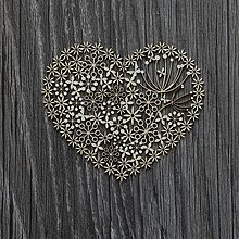 Polotovary - Lepenkový výrez - lacy heart - 7478366_