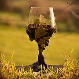 Nádoby - Vo víne je pravda - pohár na červené víno - 7477252_