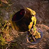 Nádoby - Vo víne je pravda - pohár na červené víno - 7477254_