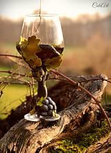 Nádoby - Vo víne je pravda - pohár na červené víno - 7477305_
