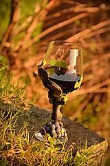 Nádoby - Vo víne je pravda - pohár na červené víno - 7477306_