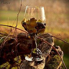 Nádoby - Vo víne je pravda - pohár na červené víno - 7477249_