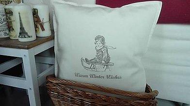 Úžitkový textil - Vankúš vianočné dievčatko - 7477901_