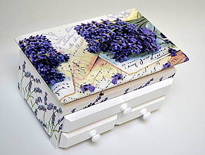 Krabičky - Šperkovnica levanduľová - 7474937_