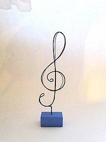 Iné - Husľový kľúč * 21,5 cm - 7476935_