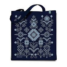 Nákupné tašky - Taška Lúčne kvieťa modré - 7478711_