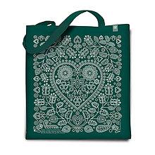Nákupné tašky - Taška Srdénko zelená - 7478849_