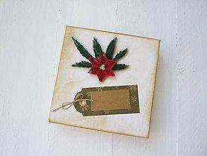 Krabičky - vianočná darčeková krabička - 7476452_
