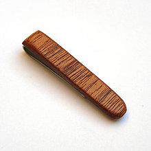 Šperky - Mahagónový klip na kravatu - 7476616_
