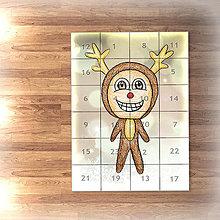 Papiernictvo - Adventný kalendár svetielka (sobík) - 7478204_