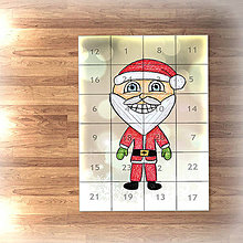 Papiernictvo - Adventný kalendár svetielka (Santa) - 7478416_