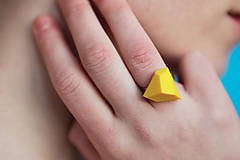 Prstene - Geometrický nastaviteľný prsteň | minimal arch | yellow - 7484131_