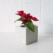 Nádoby - Betónový kvetináč Cube - 7481643_